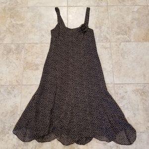 Nine West Great Cond. 100% Silk Flowy Black Dress